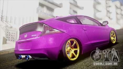 Honda CRZ Hybird Pink Cute para GTA San Andreas traseira esquerda vista