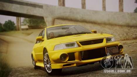 Mitsubishi Lancer Evolution VI 1999 PJ para GTA San Andreas vista traseira