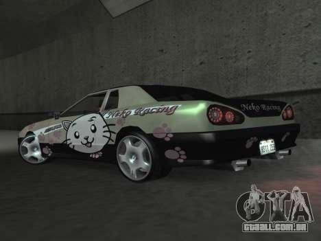 Elegy Paintjobs para GTA San Andreas vista interior