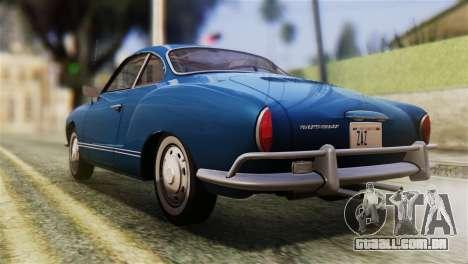 Volkswagen Karmann-Ghia Coupe (Typ 14) 1955 HQLM para GTA San Andreas esquerda vista