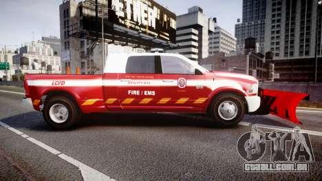 Dodge Ram 3500 2013 Utility [ELS] para GTA 4 esquerda vista