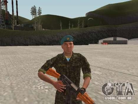 O airborne soldado da Ucrânia para GTA San Andreas segunda tela