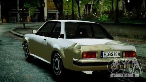 Opel Ascona B para GTA 4 traseira esquerda vista