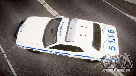 Dodge Challenger NYPD [ELS] para GTA 4 vista direita
