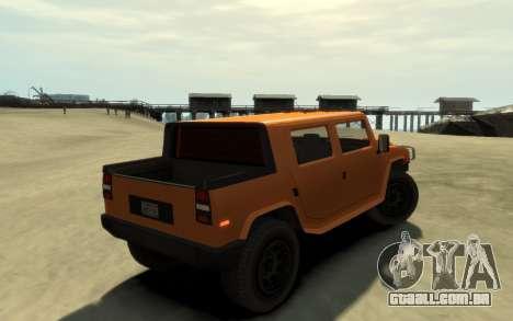 Mammoth Patriot Pickup v2 para GTA 4 esquerda vista