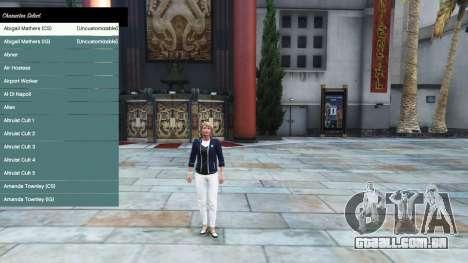 Menu de caracteres para GTA 5
