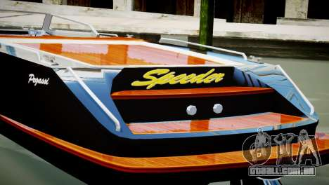 Speeder from GTA 5 para GTA 4 traseira esquerda vista