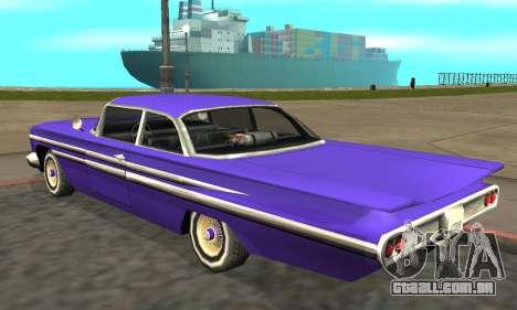 Luni Voodoo Remastered para GTA San Andreas traseira esquerda vista