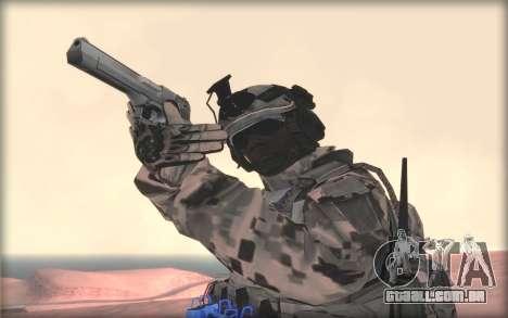 BF3 Soldier para GTA San Andreas terceira tela