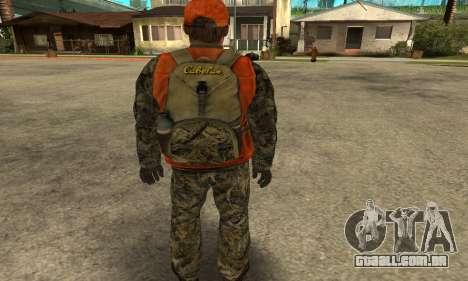 Job Man para GTA San Andreas por diante tela
