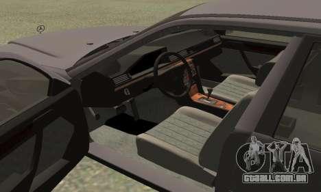 Mercedes-Benz W124 E200 para GTA San Andreas vista direita