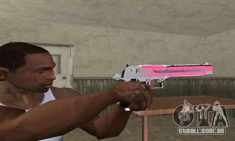 Pink Deagle para GTA San Andreas segunda tela