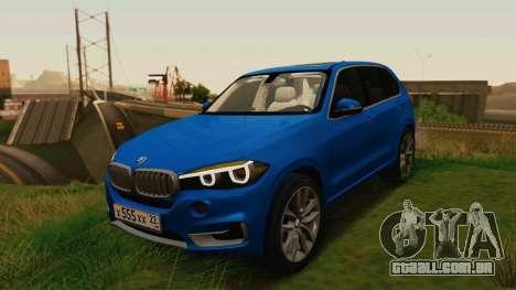 BMW X5 F15 2014 para GTA San Andreas vista traseira