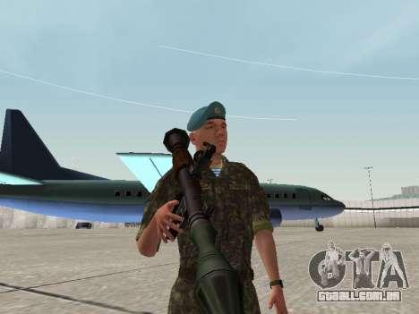 O airborne soldado da Ucrânia para GTA San Andreas por diante tela