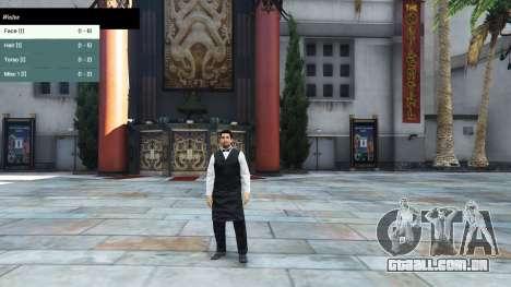 GTA 5 Menu de caracteres terceiro screenshot