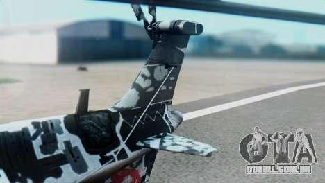 Changhe WZ-10 para GTA San Andreas traseira esquerda vista