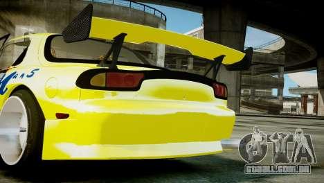 Mazda RX-7 FD3S BN Sports para GTA 4 vista direita