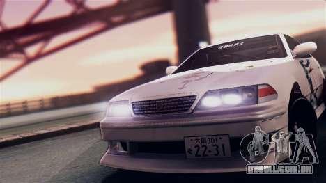 Toyota Mark 2 100 para GTA San Andreas traseira esquerda vista