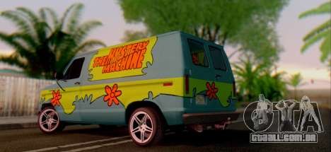 Ford E-150 Scooby Doo para GTA San Andreas vista direita
