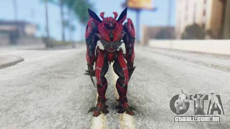 Dino Mirage Skin from Transformers para GTA San Andreas segunda tela