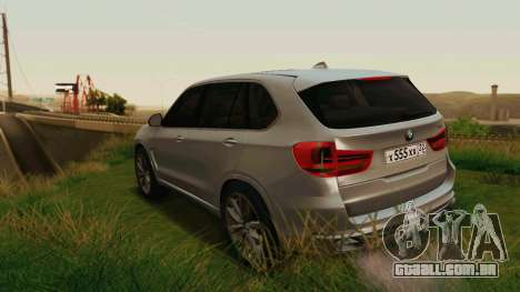 BMW X5 F15 2014 para as rodas de GTA San Andreas