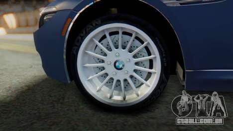 BMW M6 para GTA San Andreas traseira esquerda vista