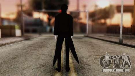 Sebastian Michaelis Kuroshitsuji para GTA San Andreas segunda tela