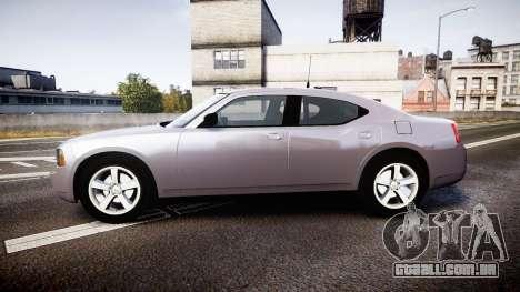 Dodge Charger Police Unmarked [ELS] para GTA 4 esquerda vista