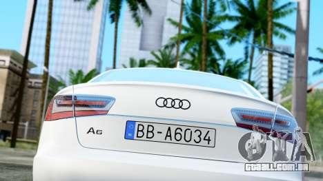 Audi A6 Stanced para GTA San Andreas vista traseira