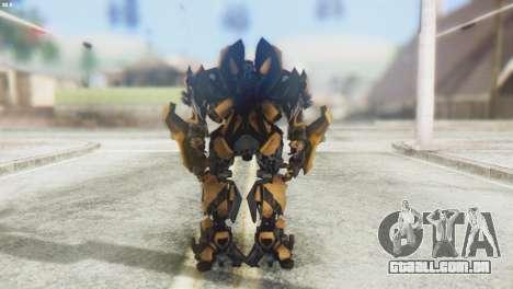 Bumblebee Skin from Transformers v2 para GTA San Andreas terceira tela