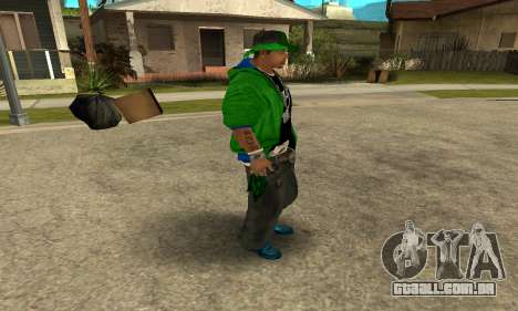 Groove St. Nigga Skin Second para GTA San Andreas por diante tela