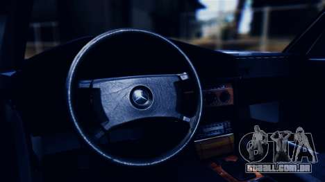 Mercedes-Benz 190E (W201) para GTA San Andreas vista interior
