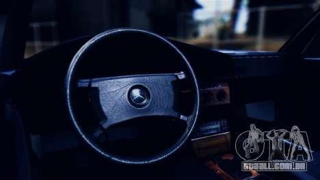 Mercedes-Benz 190E (W201) para GTA San Andreas vista interior