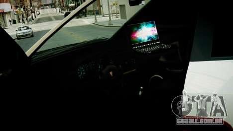 Subaru Impreza WRX STI Police para GTA 4 vista de volta
