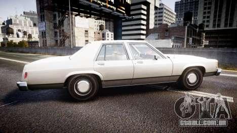 Ford LTD Crown Victoria 1987 Detective [ELS] v2 para GTA 4 esquerda vista