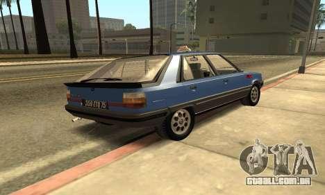 Renault 11 TXE Taxi para GTA San Andreas traseira esquerda vista