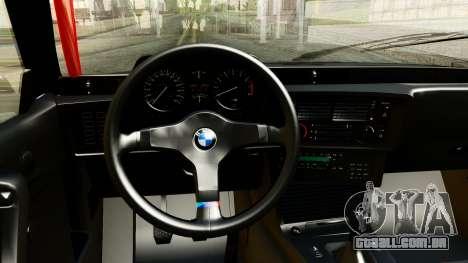BMW M635CSi E24 1984 para GTA San Andreas vista traseira