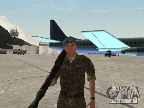 O airborne soldado da Ucrânia para GTA San Andreas quinto tela