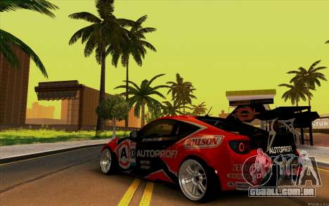 Toyota GT86 ZeroZver para GTA San Andreas vista direita