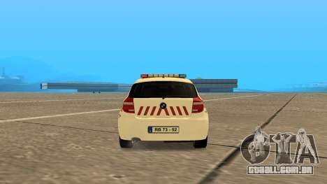 BMW 120i E87 Polícia húngara para GTA San Andreas traseira esquerda vista