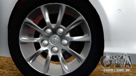 Toyota Mark X para GTA San Andreas traseira esquerda vista