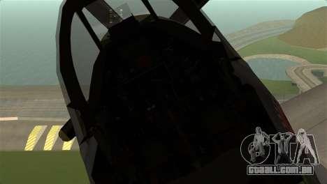P-51D Mustang para GTA San Andreas vista direita