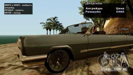 Rodas de GTA 5 v2 para GTA San Andreas sexta tela