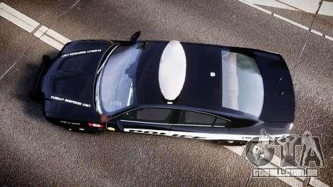 Dodge Charger Alderney Police para GTA 4 vista direita