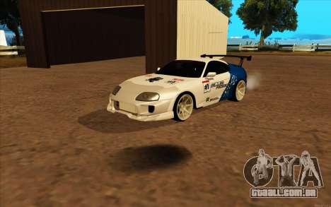 Toyota Supra Blue Robot para GTA San Andreas