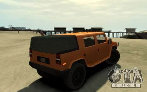 Mammoth Patriot Pickup v2 para GTA 4 traseira esquerda vista