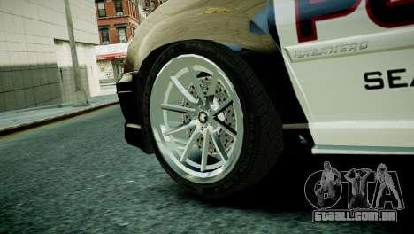 Subaru Impreza WRX STI Police para GTA 4 traseira esquerda vista