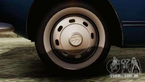 Volkswagen Karmann-Ghia Coupe (Typ 14) 1955 HQLM para GTA San Andreas traseira esquerda vista