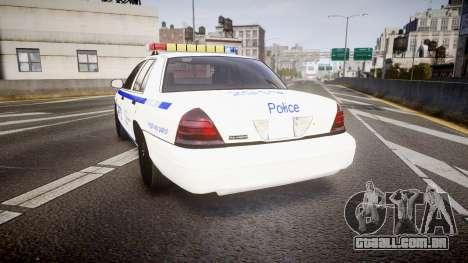 Ford Crown Victoria NYPD [ELS] para GTA 4 traseira esquerda vista
