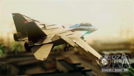 F-14D VF-213 Black Lions para GTA San Andreas esquerda vista
